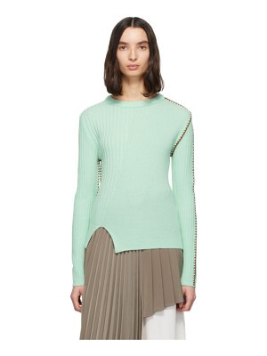 Andersson Bell green wool blanket stitched sweater