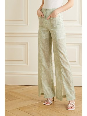 Andersson Bell messi printed cotton-blend voile wide-leg pants