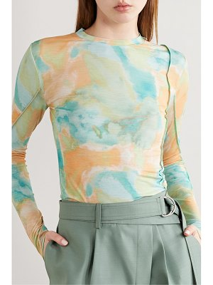 Andersson Bell paneled tye-dyed jersey top
