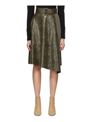 Andersson Bell python belted skirt