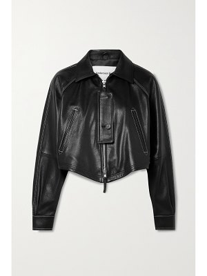 Andersson Bell shoreditch cropped textured-leather biker jacket
