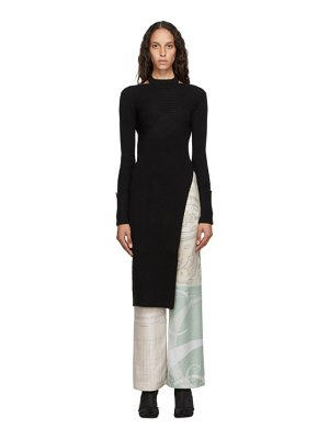 Andersson Bell ssense exclusive  asymmetric daisy turtleneck