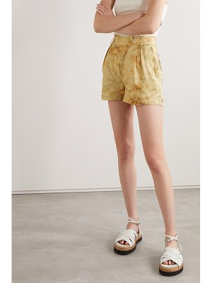 Andersson Bell sunny tie-dyed crepe de chine shorts