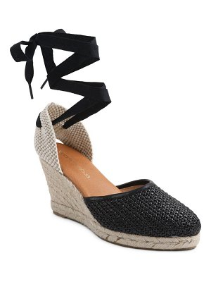Andre Assous ensley espadrille lace-up wedge