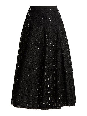 ANDREW GN Broderie Anglaise Cotton Skirt