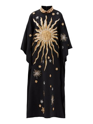 ANDREW GN constellation bead-embroidered crepe kaftan