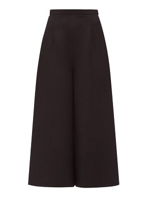 ANDREW GN cropped wide-leg crepe trousers