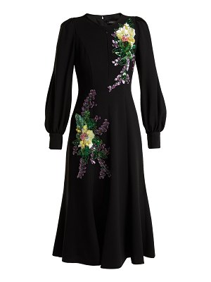 ANDREW GN Crystal and sequin-embellished crepe dress