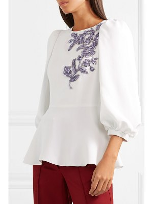 ANDREW GN crystal-embellished woven top