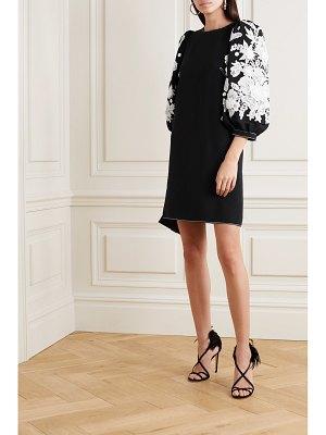 ANDREW GN guipure lace-trimmed cady mini dress