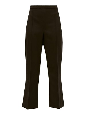 ANDREW GN high rise cropped virgin wool flared trousers