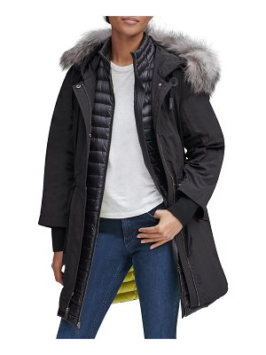 Andrew Marc Brixton Fur Trimmed Hooded Down Parka Coat