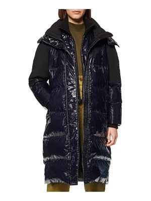 Andrew Marc high shine down puffer jacket