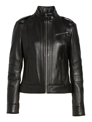 Andrew Marc smooth leather moto jacket