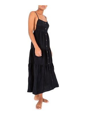 ANEMOS The Flounce Tiered Button-Down Midi Dress