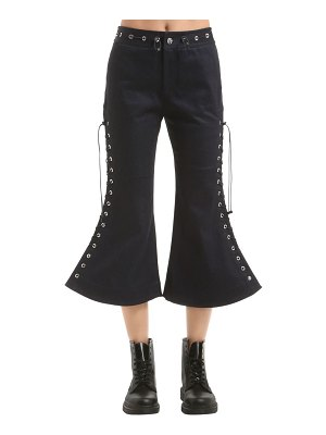 ANGEL CHEN Flared lace-up cropped pants