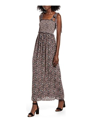 Angie floral smocked maxi dress