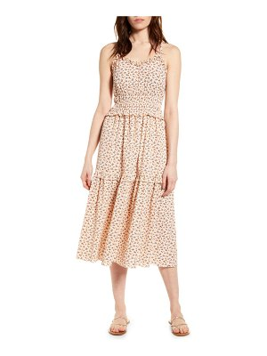Angie ruffle sleeveless midi dress