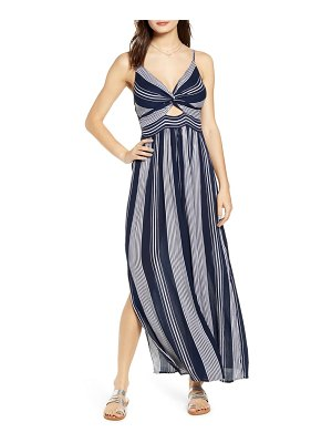 Angie stripe keyhole maxi dress