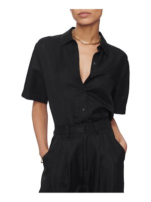 ANINE BING burni short sleeve button-up shirt