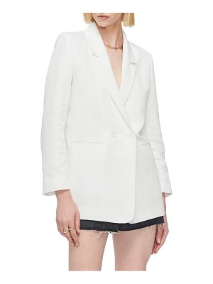 ANINE BING madeline cotton & linen double breasted blazer