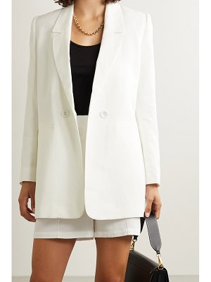 ANINE BING madeline lyocell, linen and cotton-blend blazer