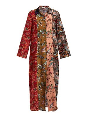 ANJUNA Augustina panelled silk-crepe dress