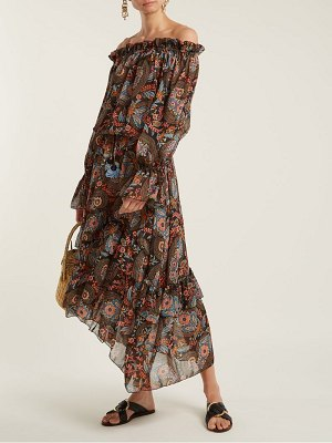 ANJUNA Sofia floral-print off-the-shoulder dress