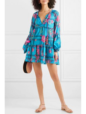 ANJUNA tiered printed cotton-voile mini dress