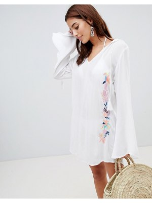 Anmol embroidered hooded beach caftan