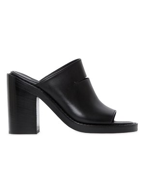 Ann Demeulemeester 100mm cut out leather mule sandals