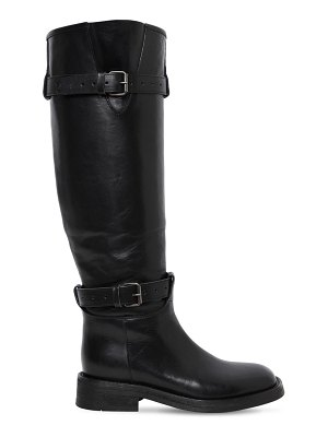 Ann Demeulemeester 20mm buckled leather knee high boots