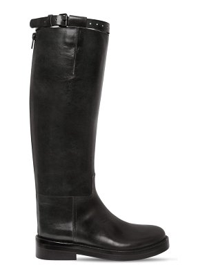 Ann Demeulemeester 30mm brushed leather riding boots