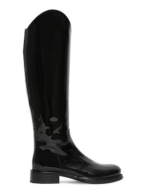 Ann Demeulemeester 30mm patent leather tall boots