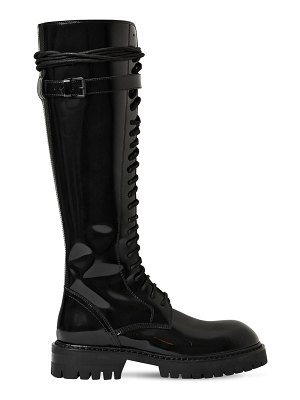 Ann Demeulemeester 30mm polished leather tall boots