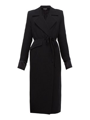 Ann Demeulemeester asymmetric wool blend twill coat