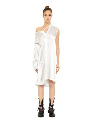 Ann Demeulemeester Asymmetrical silk satin shirt dress