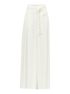 Ann Demeulemeester belted cotton-blend maxi skirt