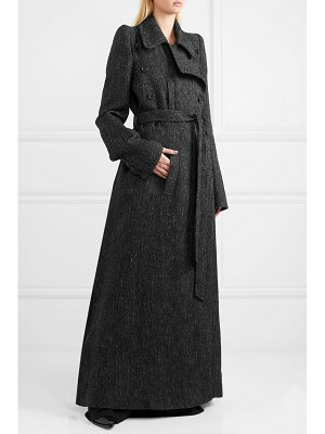Ann Demeulemeester belted double-breasted tweed coat