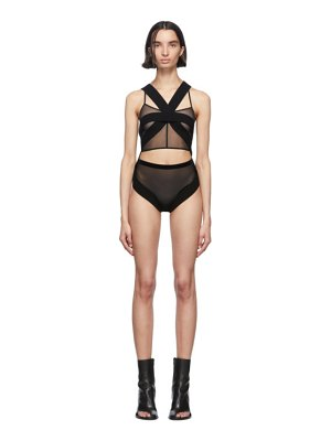 Ann Demeulemeester black knitted body fera top
