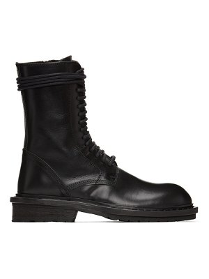 Ann Demeulemeester black lace-up combat boots