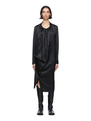 Ann Demeulemeester black silk rasoseta dress