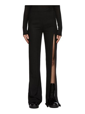 Ann Demeulemeester black vented wool trousers