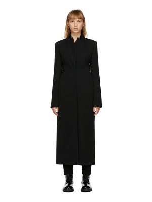 Ann Demeulemeester black wool belted coat
