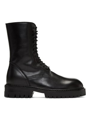 Ann Demeulemeester buckle lace-up boots