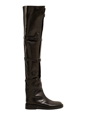Ann Demeulemeester Buckled Over The Knee Leather Boots