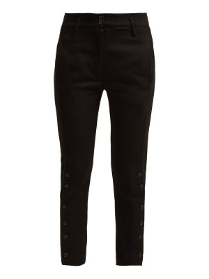 Ann Demeulemeester Buttoned-cuff wool and cotton-blend trousers