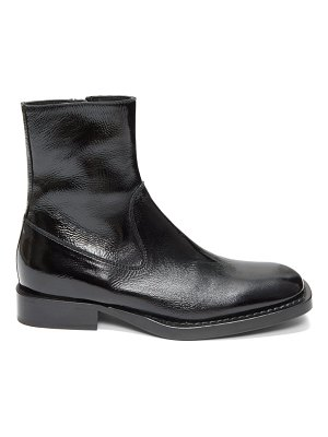 Ann Demeulemeester crackled patent-leather ankle boots