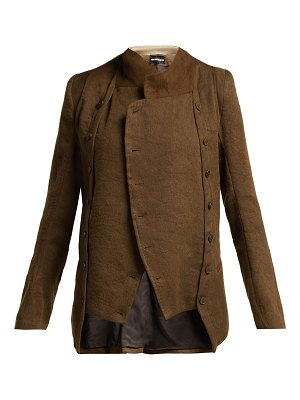 Ann Demeulemeester Cropped Linen And Wool Blend Jacket