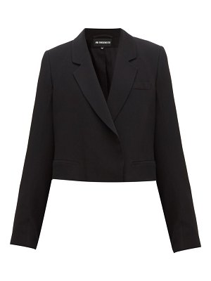 Ann Demeulemeester cropped tailored crepe jacket